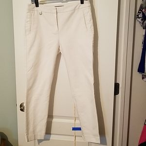 Adrianna Papell White stretch ankle pants Size 8